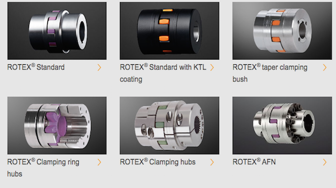 KTR Rotex Flexible Jaw Couplings