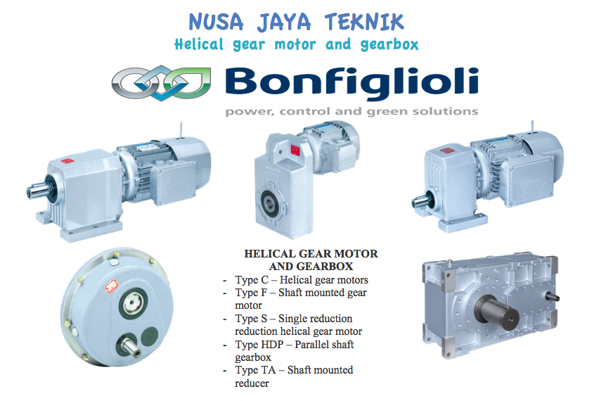 Helical Gear Motors dan Gearbox